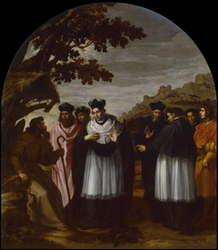 Saint Bruno and his Six Companions Visit a Hermit