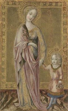 Saint Dorothy and the Infant Christ
