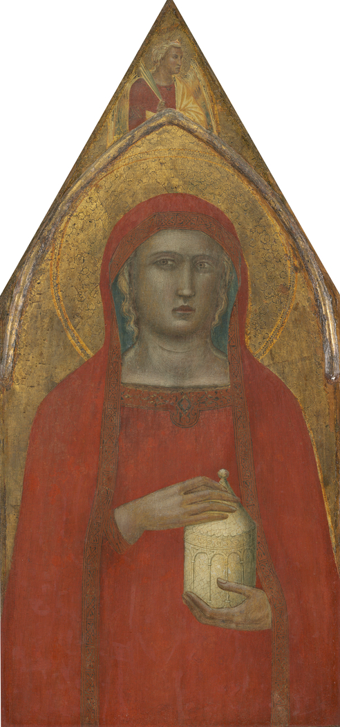 Saint Mary Magdalene, with an Angel [left panel]
