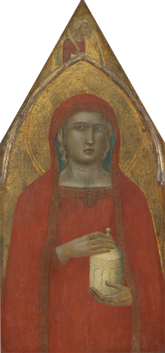 Saint Mary Magdalene, with an Angel [left panel]
