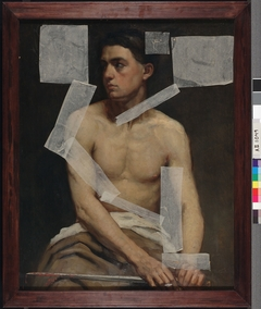 Seated Male Model Holding a Sword, Academy Study