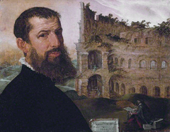 Self-portrait with the Colosseum