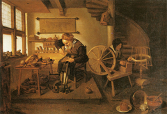 Shoemaker and Spinner in a Workshop