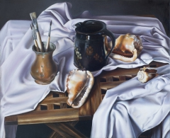 Still Life with Black Pot