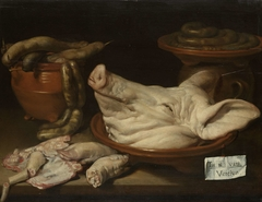Still Life with Pig's Head, Trotters and Sausage