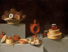 Still Life with Sweets and Pottery