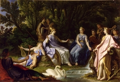 Story of Minerva - The Muses Showing Minerva Hippocrene Waters of the River that Brings Out Pegasus