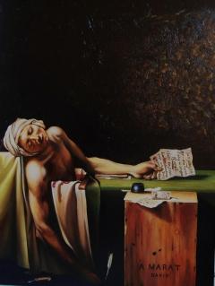 Study of 'Death of Marat' (J.L.David)