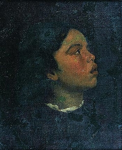 Study of the head of a girl