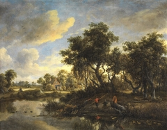Sunny Landscape with a Cottage
