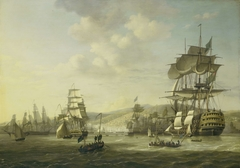 The Anglo-Dutch Fleet in the Bay of Algiers Backing up the Ultimatum to Release the White Slaves, 26 August 1816