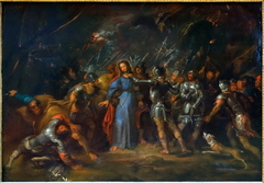 The arrest of Jesus in the Garden of Olives