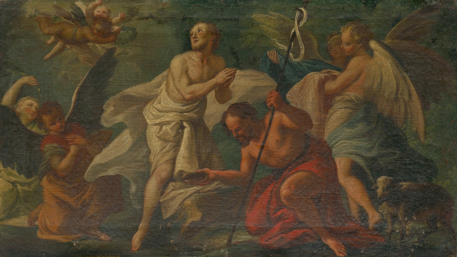 The Baptism of Christ in the Jordan River
