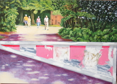 'The Barrier', (2006), 140 x 100 cm. Oil on Linen.