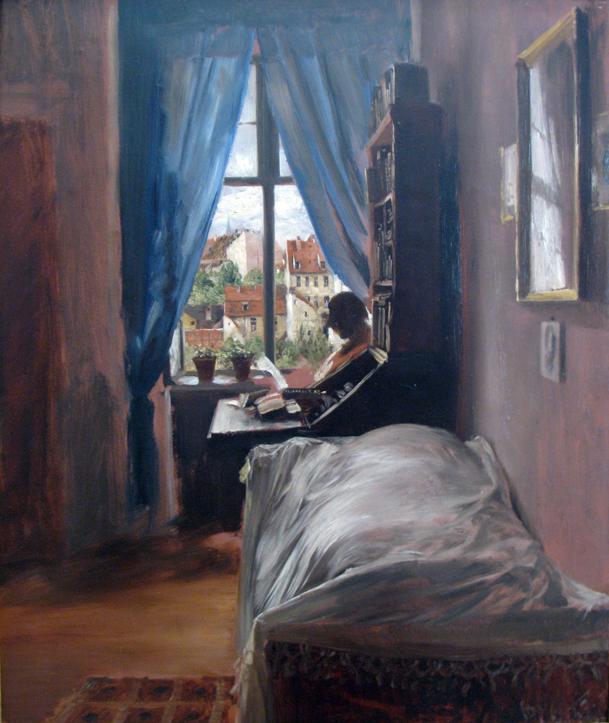 The bedroom of the artist in the Ritterstraße