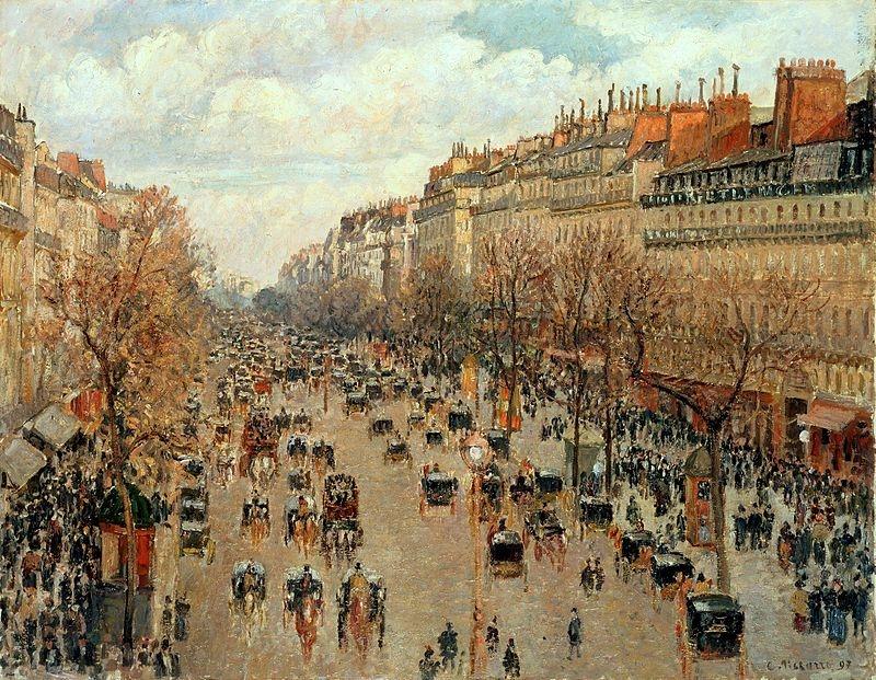 The Boulevard Montmartre, afternoon sun - Boulevard Montmartre, soleil après-midi