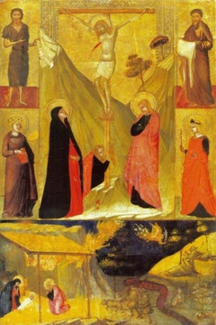 The Crucifixion, the Nativity and Saints