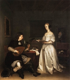 The Duet - Singer and Theorbo Player
