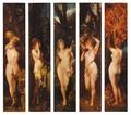 The Five Senses by Hans Makart