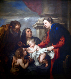 The Holy Family with Saints Elisabeth and John