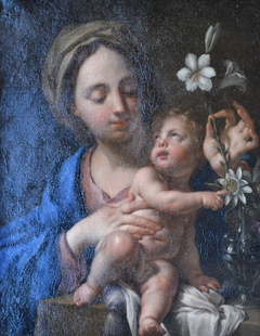 The Infant Jesus Pointing Out the Flowers of the Passion to the Virgin