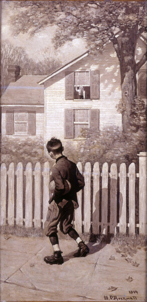 The Magic Foot-ball, 'Tommy appeared at an upstairs window.' (Boy with Mumps)