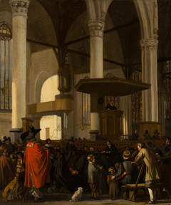 The Oude Kerk in Amsterdam during a Service