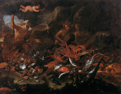 The riches of the sea with Neptune, tritons and two nereids