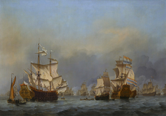 The surrender of the Royal Prince during the Four Days' Battle, 1st -4th June 1666