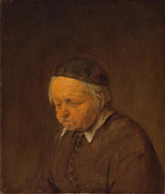 Thoughtful old peasant