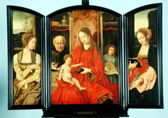 Triptych: Holy Family with Saints Catherine and Barbara
