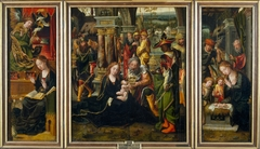 Triptych with the Annunciation, the Adoration of the Magi and the Nativity with Angels and Shepherds