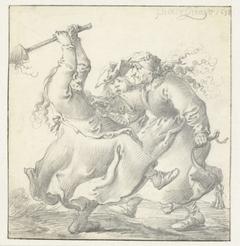 Twee vechtende vrouwen