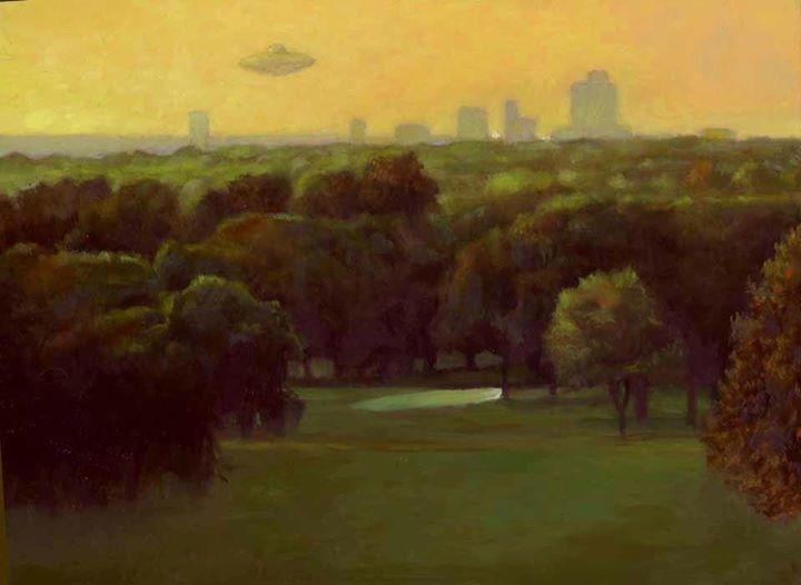 ufo continpating golf corse