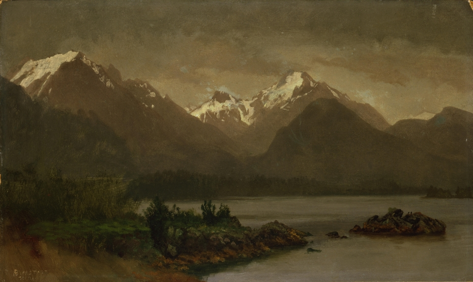 Untitled (Mountains and Lake)