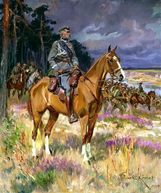 "Marshal Józef Piłsudski on ""Kasztanka"""