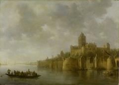 View of the Valkhof at Nijmegen (Valkenhof at Nimeguen)