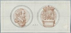 Voor- en achterzijde van een penning op de Alliantie van Frankrijk met de Zwitsers in 1602