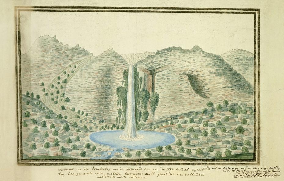 Waterval te Drakenstein bij de oorsprong van de Grote Bergrivier