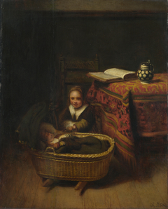 Young Girl at a Cradle