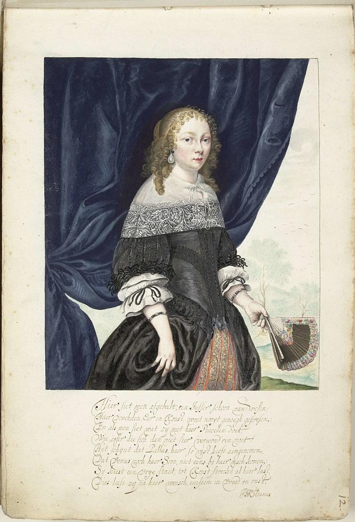 Zelfportret van Gesina, driekwart naar rechts