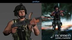 3D Military Mascot Character Design by Gameyan game development companies - San Francisco, USA