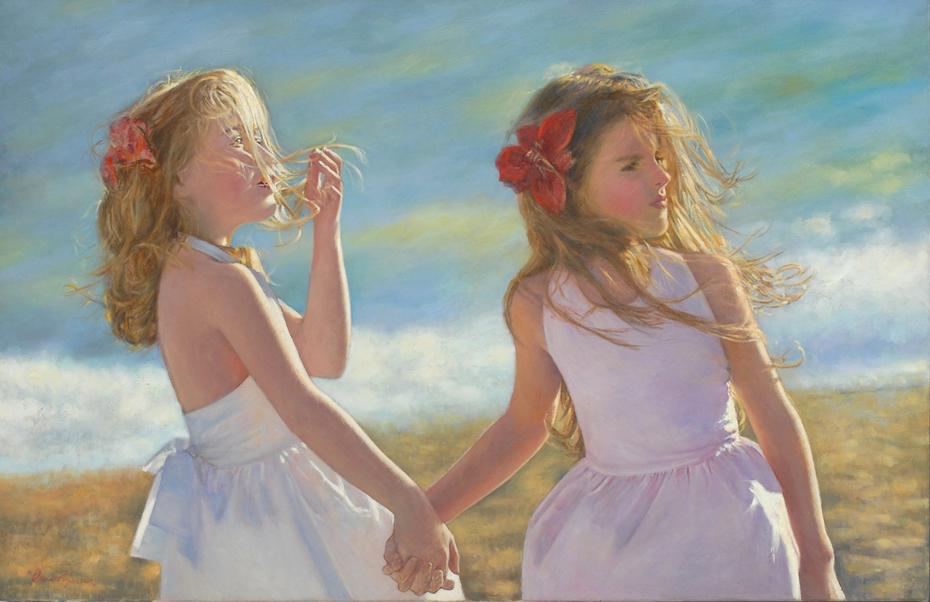 Kοριτσάκια στην παραλία