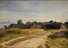 A Croft at Lodskov near Vognserup Manor. Study