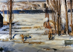 A Morning Snow--Hudson River