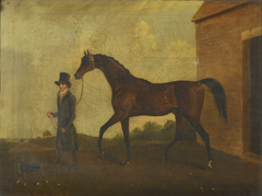 A Racehorse and Groom in a Landscape
