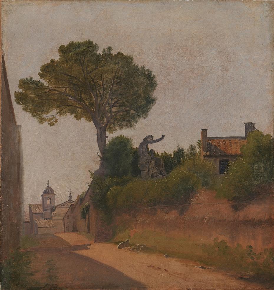 A Street in Rome. Vicolo Sterrato