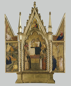 A Triptych: The Coronation, Nativity and Crucifixion