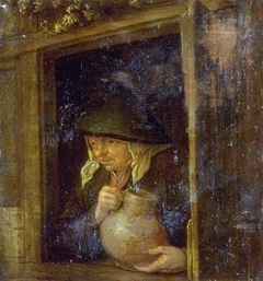 A Woman with a Jug in a Window