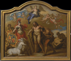 Allegory of the Power of Great Britain by Land, design for a decorative panel for George I's ceremonial coach